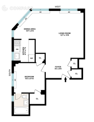 floorplan for 200 East 36th Street #19A