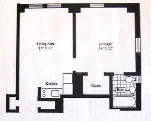 floorplan for 5 Tudor City Place #631