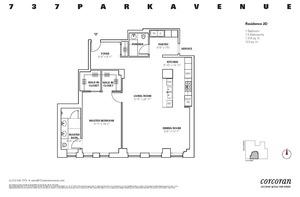 floorplan for 737 Park Avenue #2D