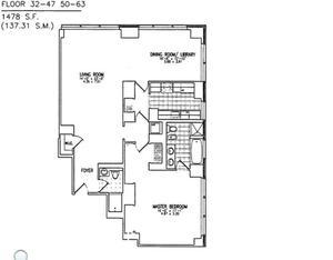 floorplan for 845 United Nations Plaza #56E