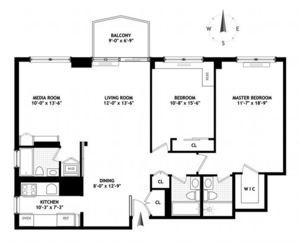 floorplan for 220 East 65th Street #3C
