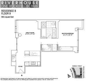 floorplan for 2 River Terrace #9