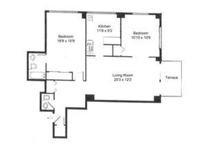 floorplan for 61 West 62nd Street #16D