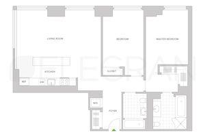 floorplan for 303 East 33rd Street #8N