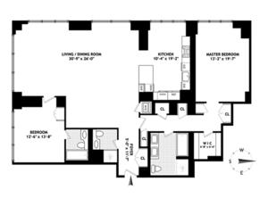 floorplan for 845 United Nations Plaza #39C