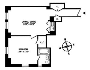 floorplan for 5 Tudor City Place #612