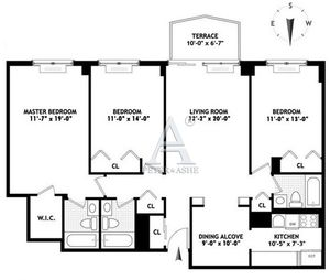 floorplan for 220 East 65th Street #8G