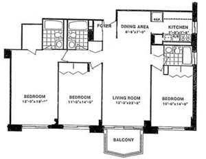 floorplan for 220 East 65th Street #19G