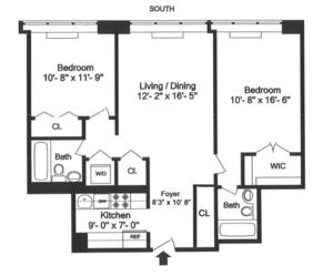 floorplan for 61 West 62nd Street #5G