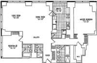 floorplan for 845 United Nations Plaza #35C