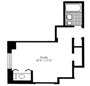 floorplan for 5 Tudor City Place #510