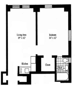 floorplan for 5 Tudor City Place #731