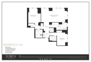 floorplan for 845 United Nations Plaza #6D