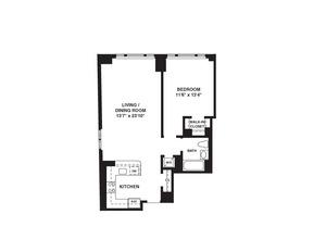 floorplan for 37 West 21st Street #202