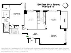 floorplan for 150 East 69th Street #19B