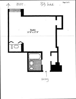 floorplan for 5 Tudor City Place #633