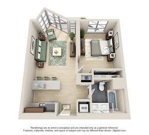 floorplan for 111 Kent Avenue #6P