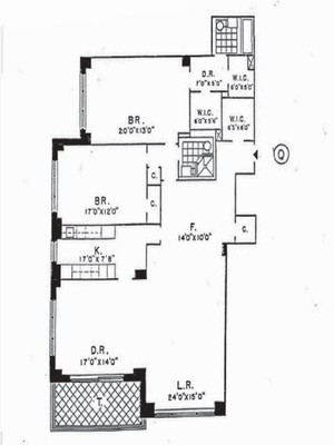 floorplan for 150 East 69th Street #18Q