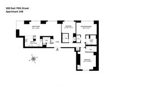 floorplan for 300 East 79th Street #14B