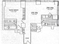 floorplan for 845 United Nations Plz #17H