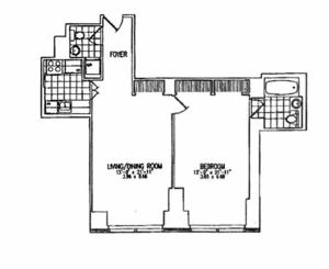 floorplan for 845 United Nations Plaza #5B