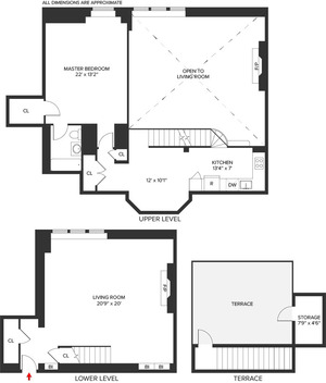 floorplan for 5 Tudor City Place #PH2