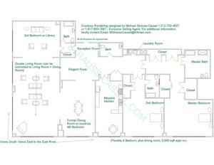 floorplan for 845 United Nations Plaza #38B