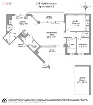 floorplan for 268 Wythe Avenue #5B