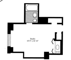 floorplan for 5 Tudor City Place #018