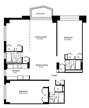 floorplan for 220 East 65th Street #15L