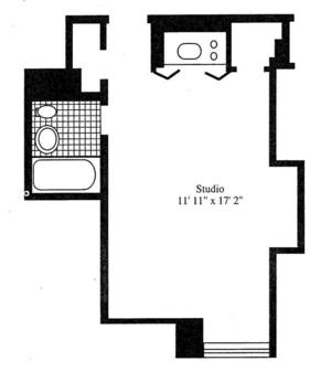 floorplan for 5 Tudor City Place #317