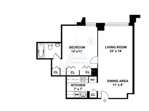 floorplan for 220 East 65th Street #7A