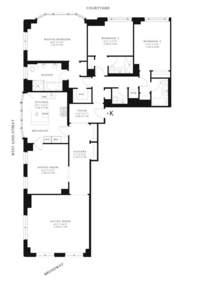 floorplan for 15 Central Park West #11K