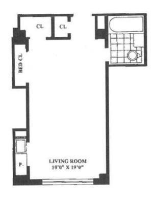 floorplan for 5 Tudor City Place #508