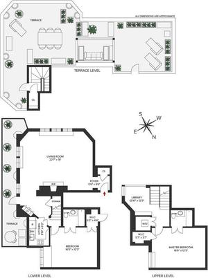 floorplan for 5 Tudor City Place #PH7