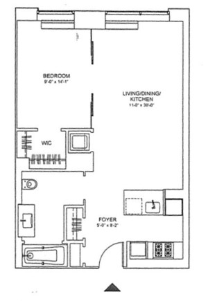 floorplan for 303 East 33rd Street #7E