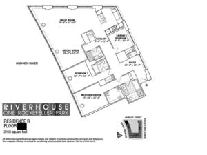 floorplan for 2 River Terrace #9R