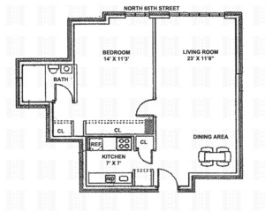 floorplan for 220 East 65th Street #14A