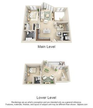 floorplan for 111 Kent #1B