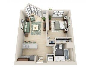 floorplan for 111 Kent Avenue #5F