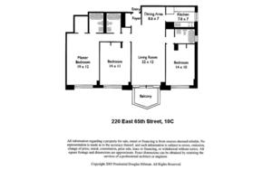 floorplan for 220 East 65th Street #10C
