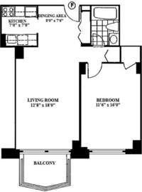 floorplan for 220 East 65th Street #5F