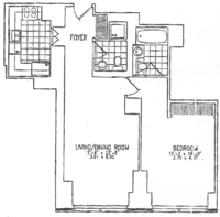 floorplan for 845 United Nations Plaza #11C