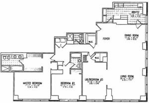 floorplan for 845 UN Plaza #83A