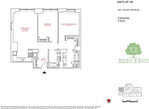 floorplan for 303 East 33rd Street #4P