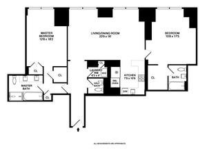 floorplan for 845 United Nations Plaza #63D