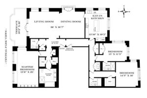 floorplan for 15 Central Park West #38A