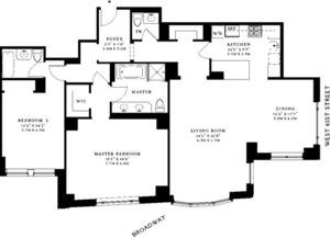 floorplan for 15 Central Park West #10M