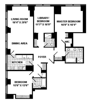 floorplan for 845 United Nations Plaza #21A