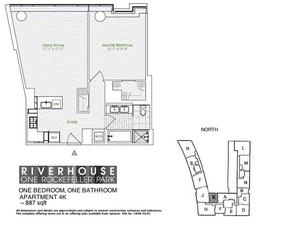 floorplan for 2 River Terrace #4K